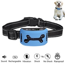 2017 amazon hot sale Electronic Pet Dog Training Collar Outdoor No Shock Anti Bark Collar With Usb Rechargeable