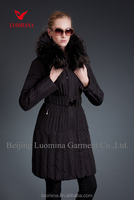 Womens Winter Hooded Coat Fur Duck Down Parka Jacket Long Lady Outerwear