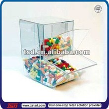TSD-A826 Custom acrylic box for the candy shop,acrylic sweet dispenser,wholesale candy plastic containers