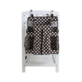 Fashion Design Toilet Storage Cover Organizer Hanging Bag