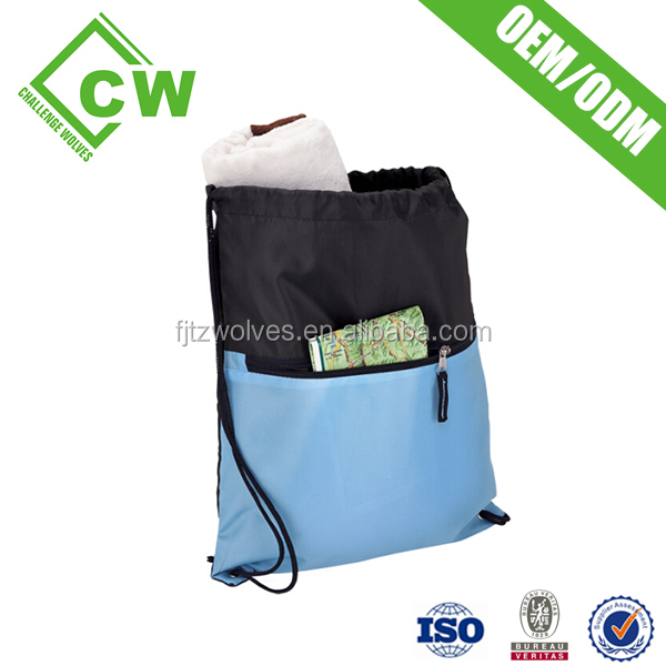 nylon polyester drawstring mesh bag from china factory