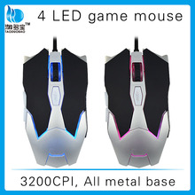 New fashionable drivers usb 6d gaming mouse with LED backlight