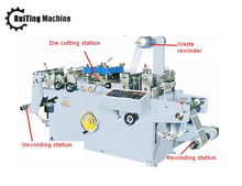 RTMQ-320 automatic flat bed die cutting machine for adhesive label printed sticker label