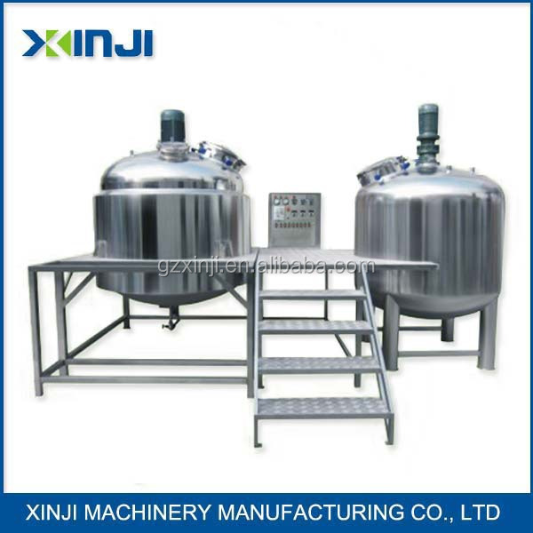 100-5000 L Vacuum emulsifying mixer for Medical sterile ultrasound gel making machine with ingredients