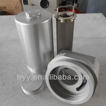 hydraulic low pressure oil filter housing and elements