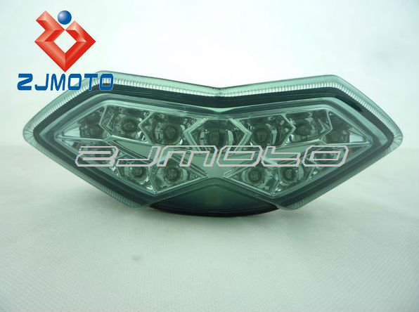 Motorcycle LED Taillight 2010 2011 2012 2013 Z1000 & Versys / 2011-2013 Ninja 1000 LED Tail Light + Signals Smoke Smoky