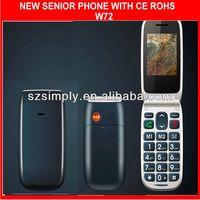 low price buy gsm unlocked phones dual sim flip W72
