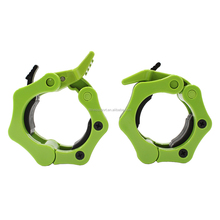 tough ABS plastic and industrial-strength rubber barbell clamp collar