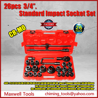 High Quality 3/4inch 26pcs Metric System Mixed Heavy Duty Socket Wrench Set Box Socket Set