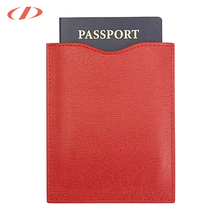 Refined Italian saffiano leather OEM Anti Thief Paper Credit Card/Passport holder RFID Blocking Sleeve