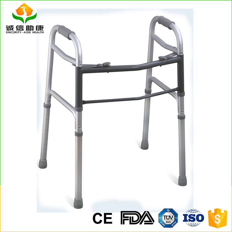 Disability aids aluminum reciprocating walker for disabled or elderly people