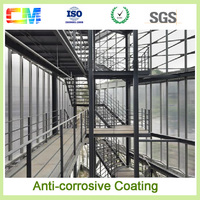 High quality UV proof anti corrosive anti rust metal steel structure fluorocarbon paint