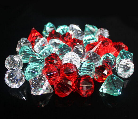 assorted shapes acrylic crystal diamond for wedding decoration