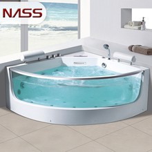 china manufacturer cheap acrylic transparent glass sector shape whirlpool bath tub bathtub sizes