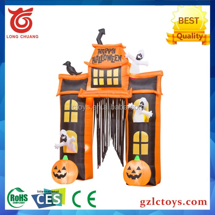2017 new design and hot sale best-selling in hawlloween, halloween inflatable haunted house