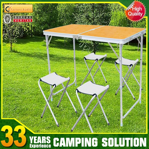 Small portable low folding table with carry case