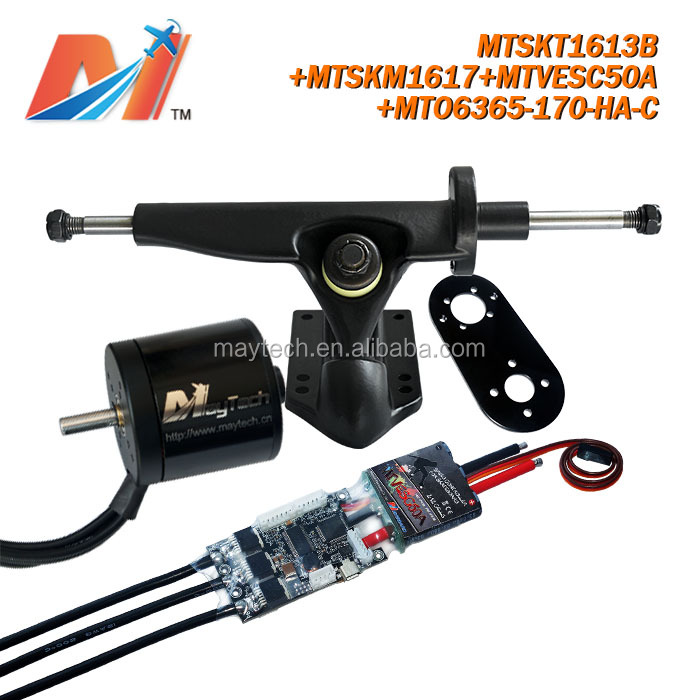 Maytech direct drive electric motor 6365 170KV and programmable motor controller super esc basedvesc and mount/truck for vehicle