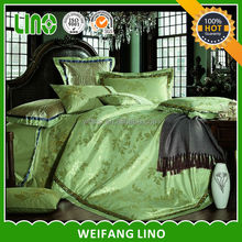 wholesale jacquard satin comfoter set/silk feeling bedsheet/wholesale pillowcase