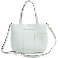 CSYH315-001 double face white and yellow saffiano leather bags women wholesale cheap handbag