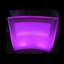 night club waterproof led illuminated cocktail table for bar