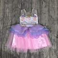 girls unicorn dress fairy dresses party princess dress