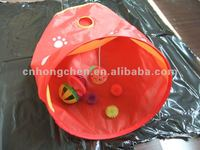 red pet tunnel/cat playing tunnel/cat tunnel