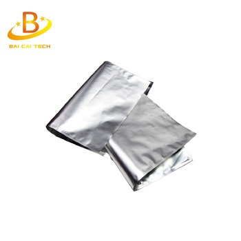 Fashional design protect environment hot sale custom silver bag,silver foil packaging bag with free sample