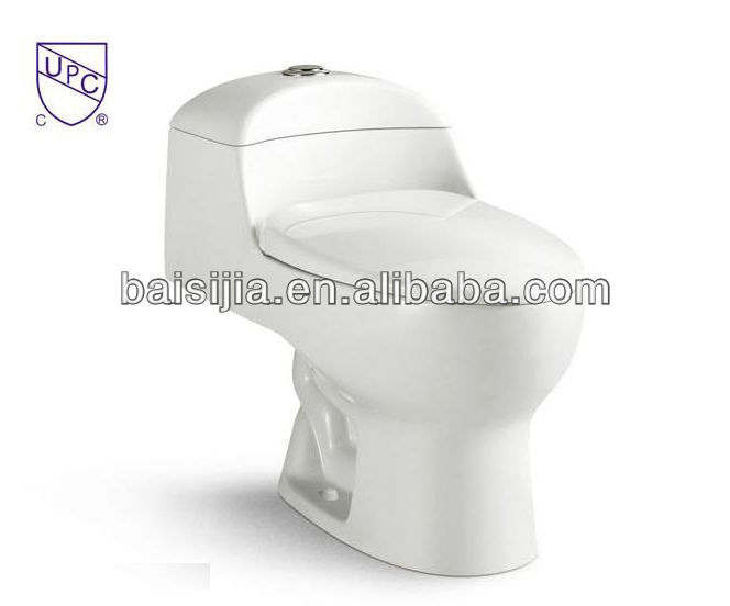 cUPC ceramic siphonic one piece toilet/portable toilet/bathroom toilet (BSJ-T003)