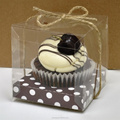 Bomboniere Favor LARGE PVC Plastic Wedding Muffin Cake Gift Box 9cm