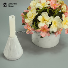 Carrara White Marble Stone Candle Holder For Wedding Table Centerpieces