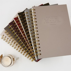 Promotional Blank Cover Spiral Stationery Plain Composition University Notebook With Wire Bound