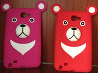 2013 Cute korean bear silicon phone cover