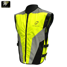 High light reflective running safety vest / reflective winter safety bike vest jacket