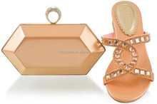 peach colored shoes matching clutch bag set for wedding