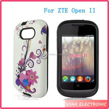 Alibaba Express China Water Transfer Printing Hybrid PC Silicone Combo Case For ZTE Open II