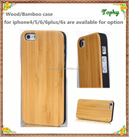Best selling bamboo for Iphone 6 / 6s CNC natural wood phone case with 2.0-2.2 thickness wood material