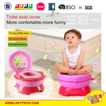 Hot selling new item with light and music 3 in 1 BO funny baby plastic toilet seat cover for kid