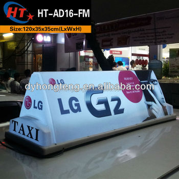 advertising lighting car taxi led topper sign for sale. Black Bedroom Furniture Sets. Home Design Ideas