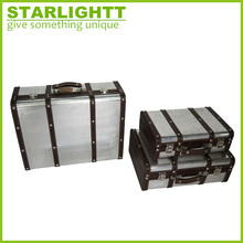 decorative aluminum leather storage craft suitcases box with good price