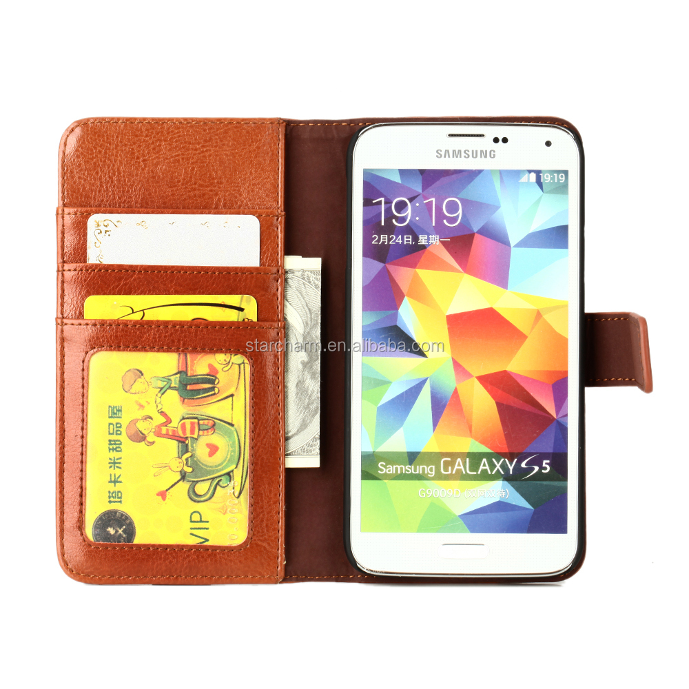 For samsung galaxy s5 cases leather case with ID card slot
