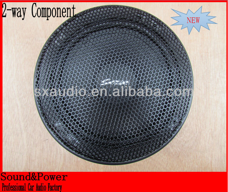 high level hex 3.0MM hole grill 2 way 6.5 component speakers