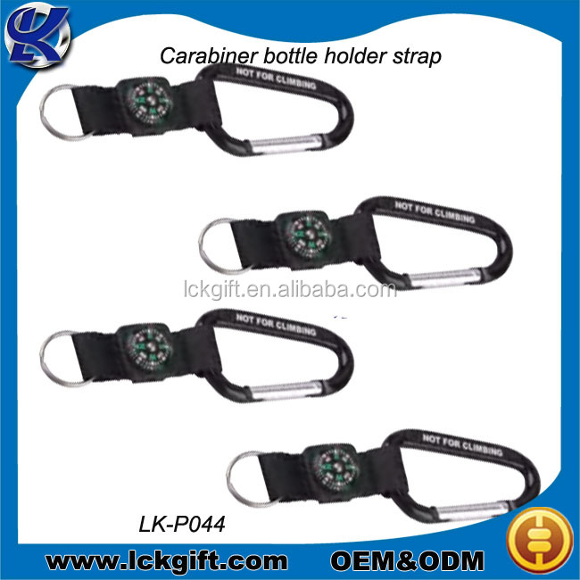 Fashion carabiner hook with webbing and key ring/mini carabiner hook/snap hook