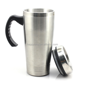 Promotion Stainless steel auto mug/travel mug with handle MOQ 100 PCS 0309012