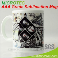 2015 New Design White Blank Mugs 11oz cups Sublimation Mugs Heat Transfer