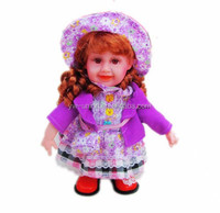 best seller intelligent talking baby dolls, English, spanish ,russian music doll