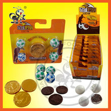New Crisp Chocolate Sets/Golden Chocolate Coin Mix Football/Globe Chocolate Ball