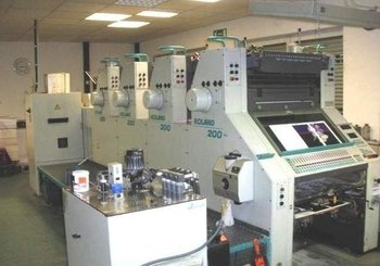 4-color offset printing press MAN-Roland R 204