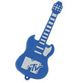 wholesale price blue electric guitar micro usb flash drive custom logo 6