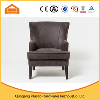 American style home furniture fabric sofa chair living room PU material sofa chair