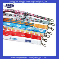 Sublimation Printed Design Polyester Lanyards With